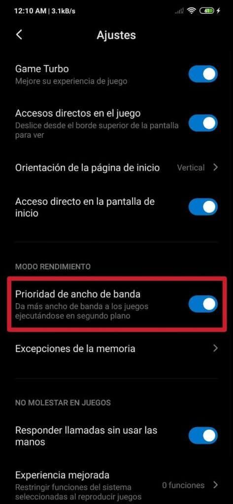 Cómo mejorar el Internet en los juegos en MIUI de Xiaomi