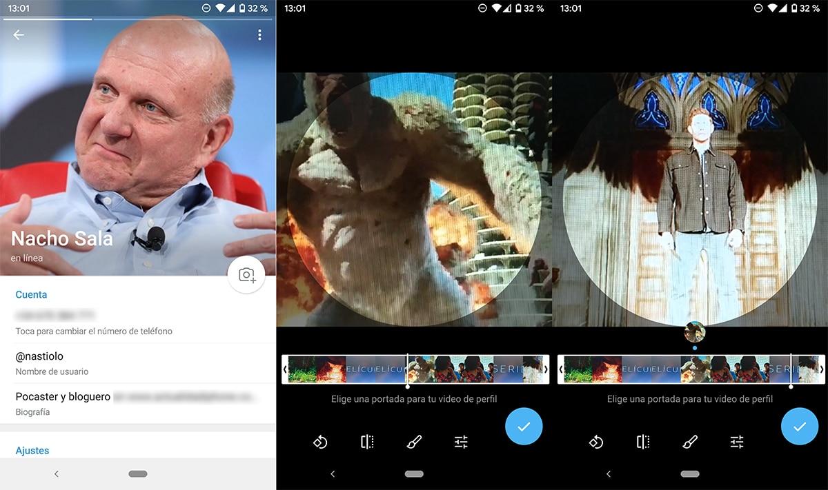 Añadir vídeo a imagen de perfil en Telegram