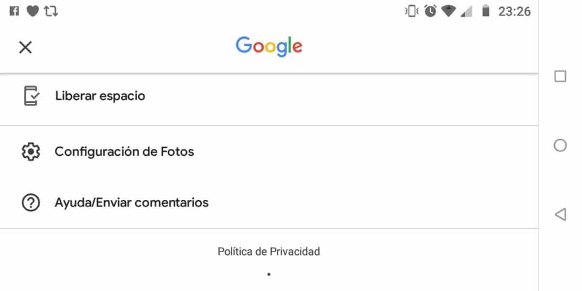 Captura Google Fotos
