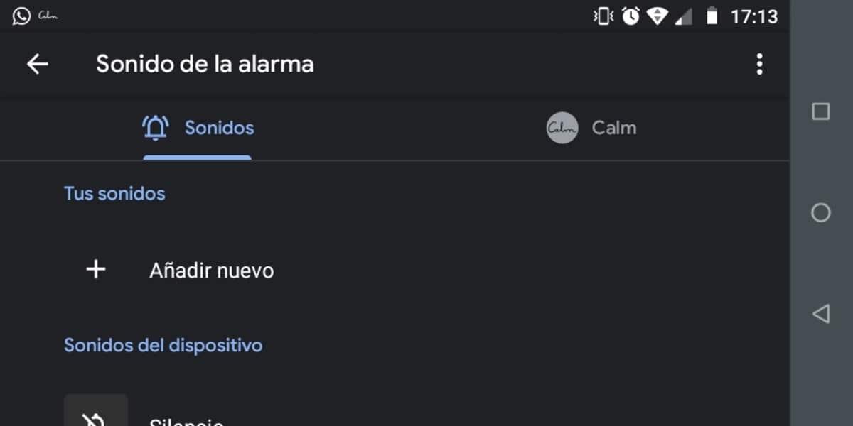 Personalizar alarma