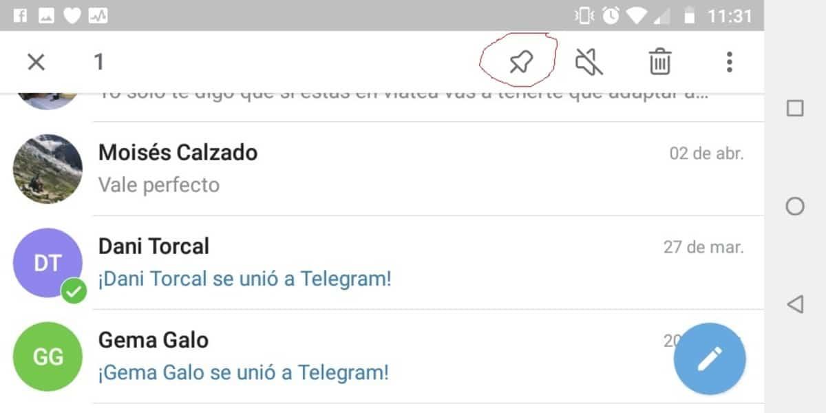 Tachuela Telegram
