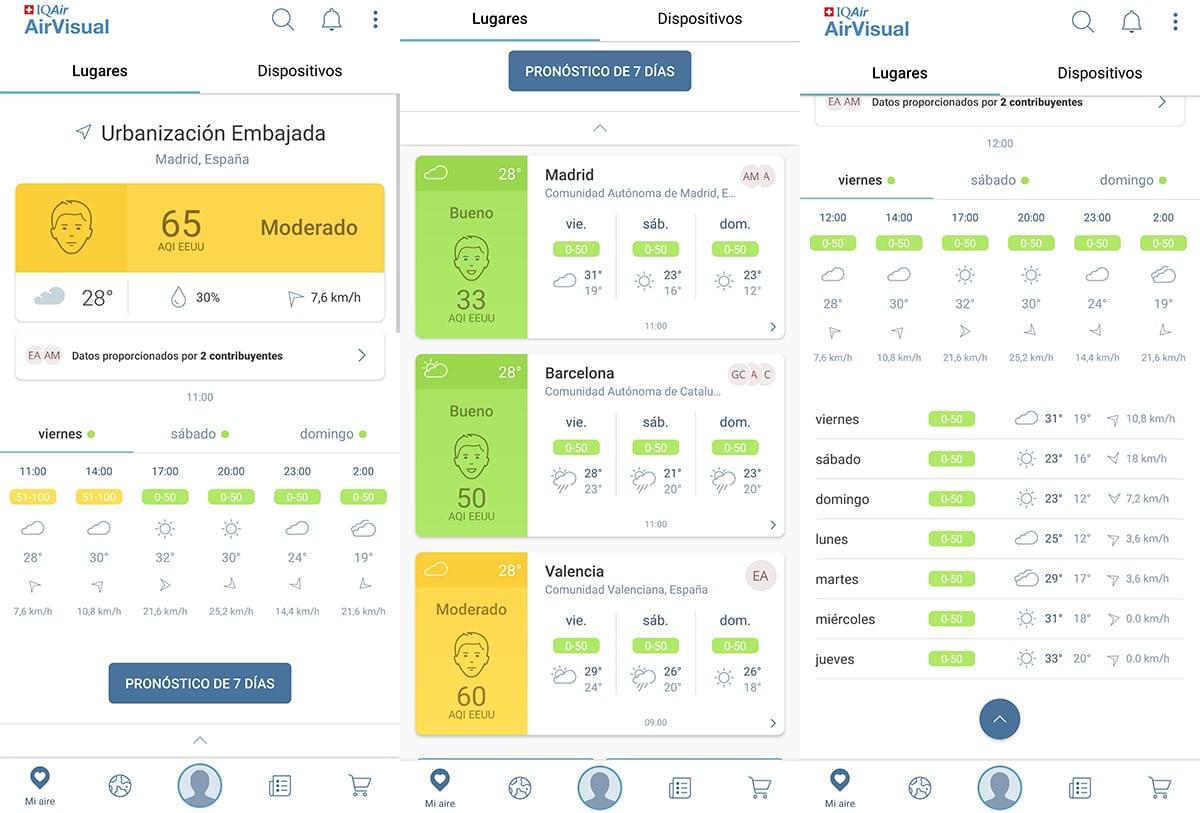 Conocer calidad del aire desde el móvil