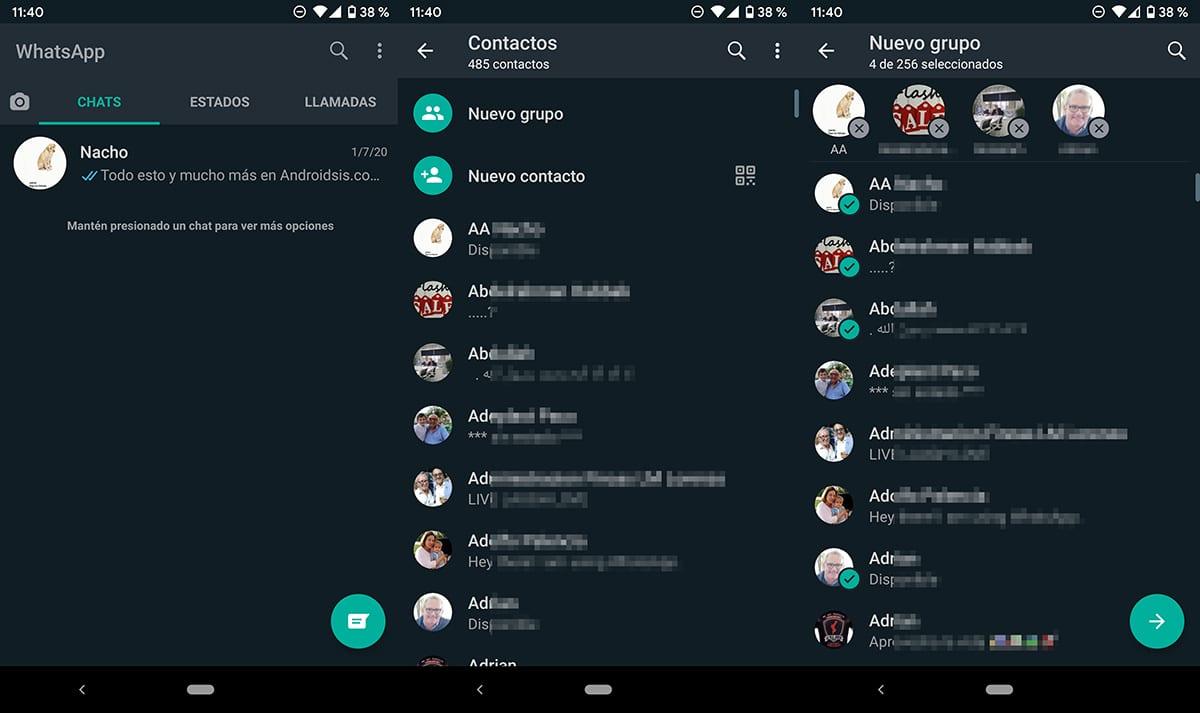 Crear grupos en WhatsApp