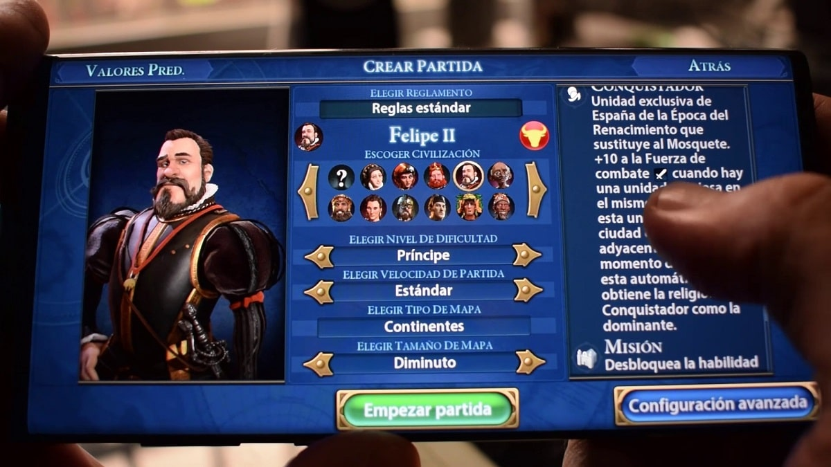 Españoles en Civilization VI