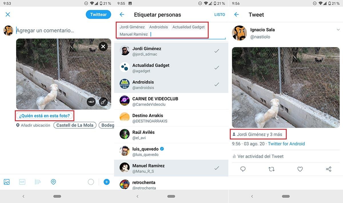 Etiquetar en Twitter