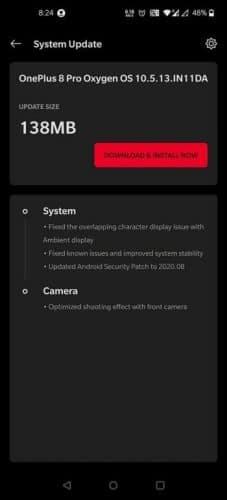 Los OnePlus 8 reciben una actualización con el parche de seguridad de Android de agosto del 2020