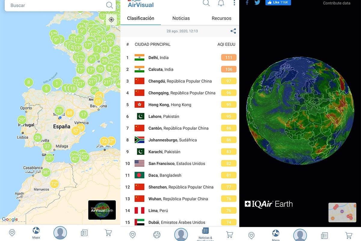 Ver calidad del aire desde un mapa
