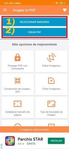 Cómo convertir imágenes JPG en PDF en Android fácilmente
