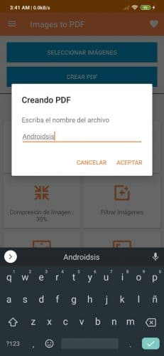 Cómo convertir JPG en PDF en Android