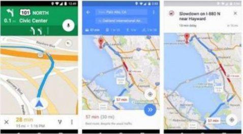 Google Maps conducción