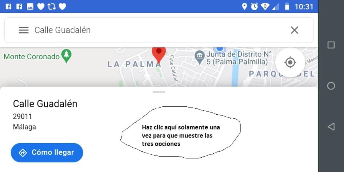 Maps ubicación calle