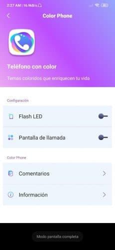 Cómo cambiar el fondo de pantalla en las llamadas con Color Phone