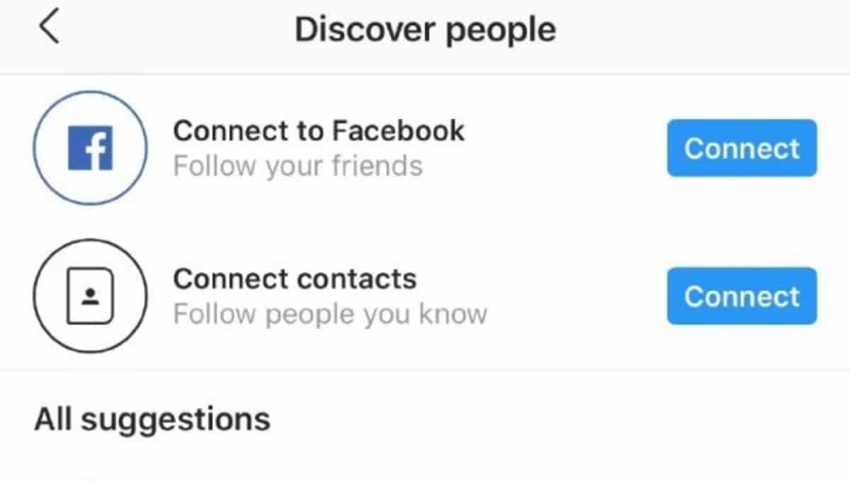 Añadir contactos Instagram