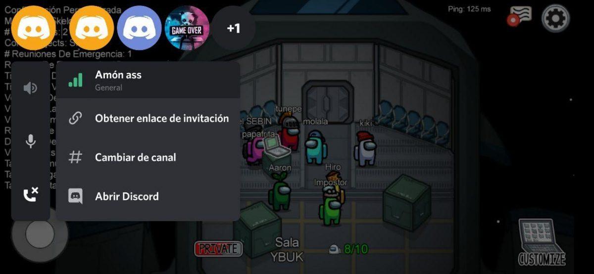 Overlay de Discord en Among Us, uno de los juegos del momento