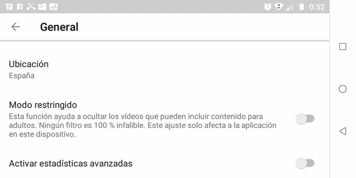 Estadisticas YouTube