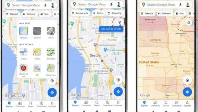 Google Maps capas