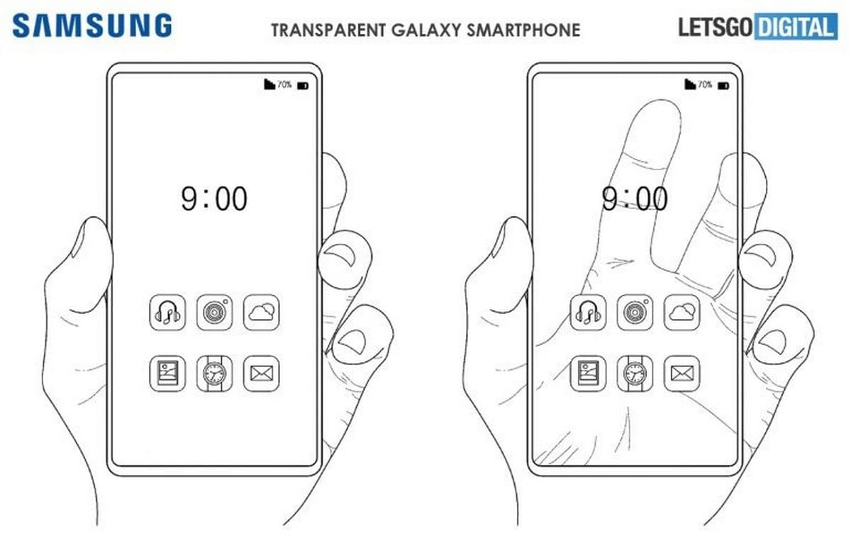 Patente pantalla transparente