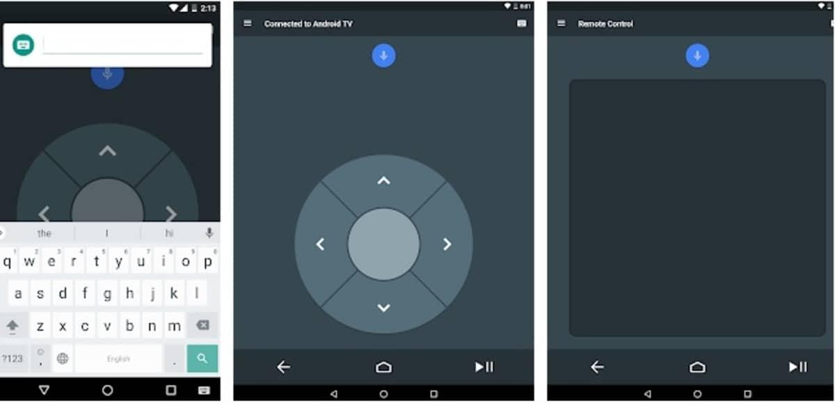 Android televisión Remonte Control