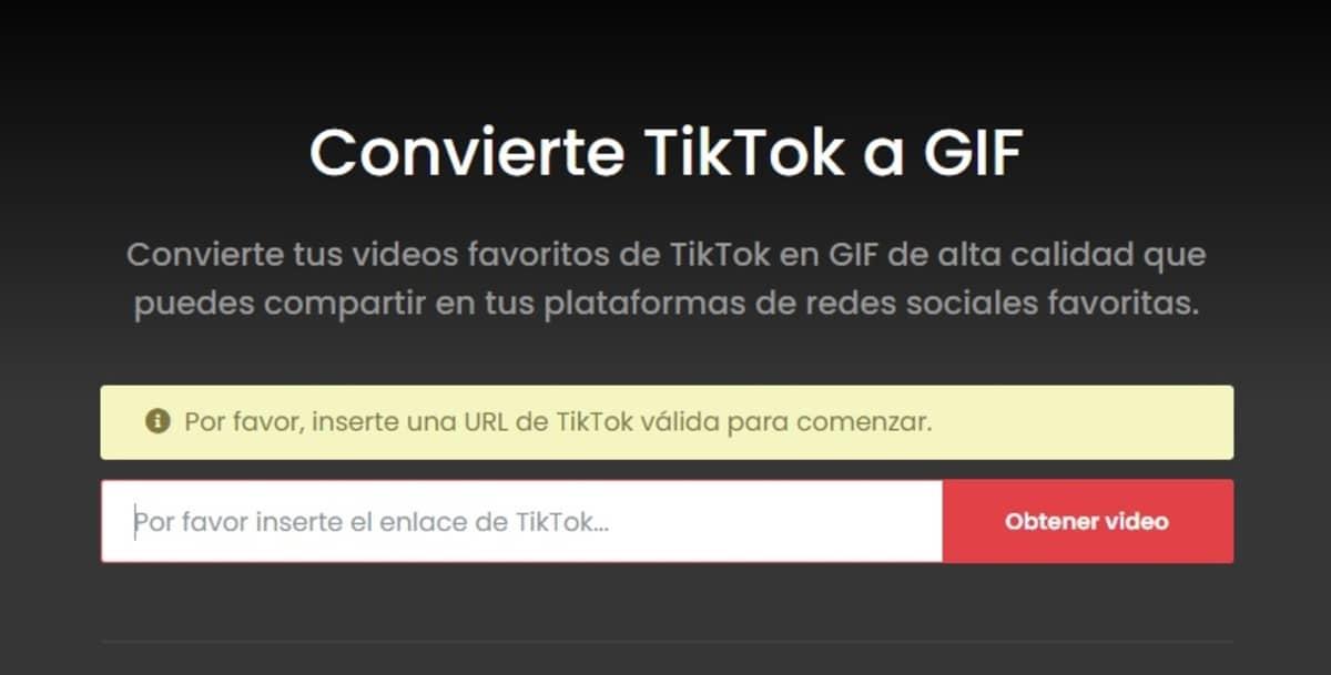 Convertir GIF Tiktok