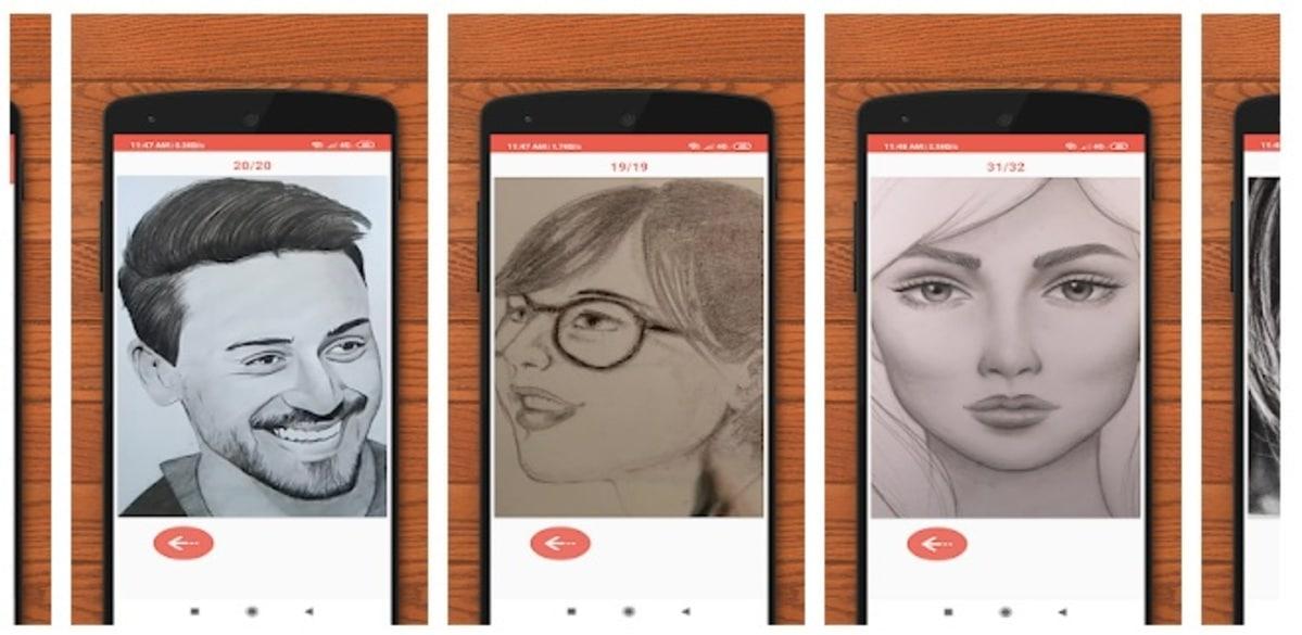 Dibujar caras app