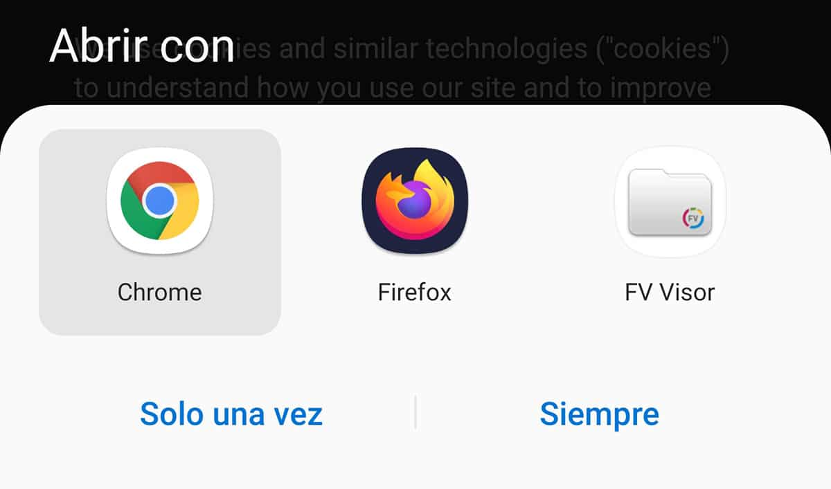Abrir con Android