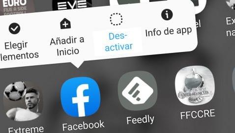 Desinstalar apps precargadas