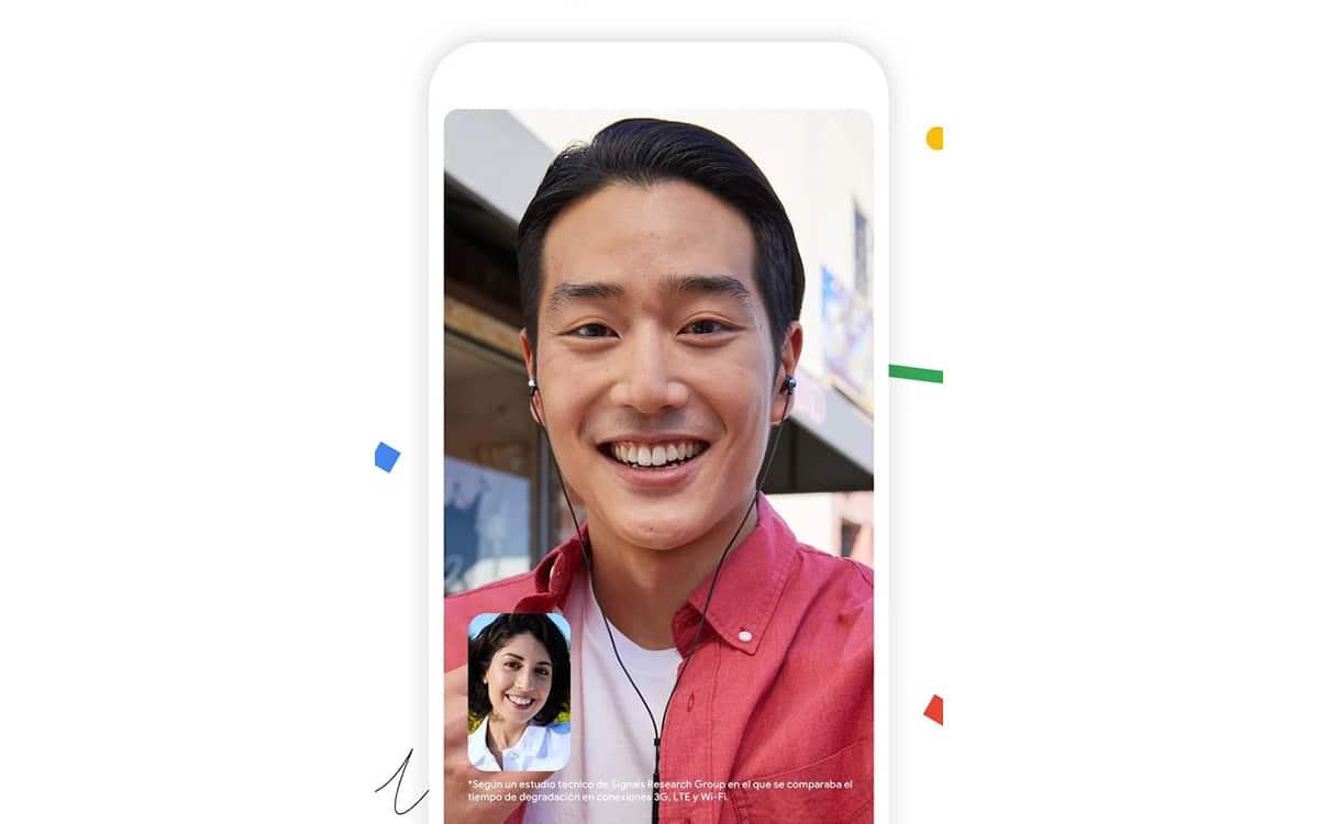Encuadre automático de Google Duo