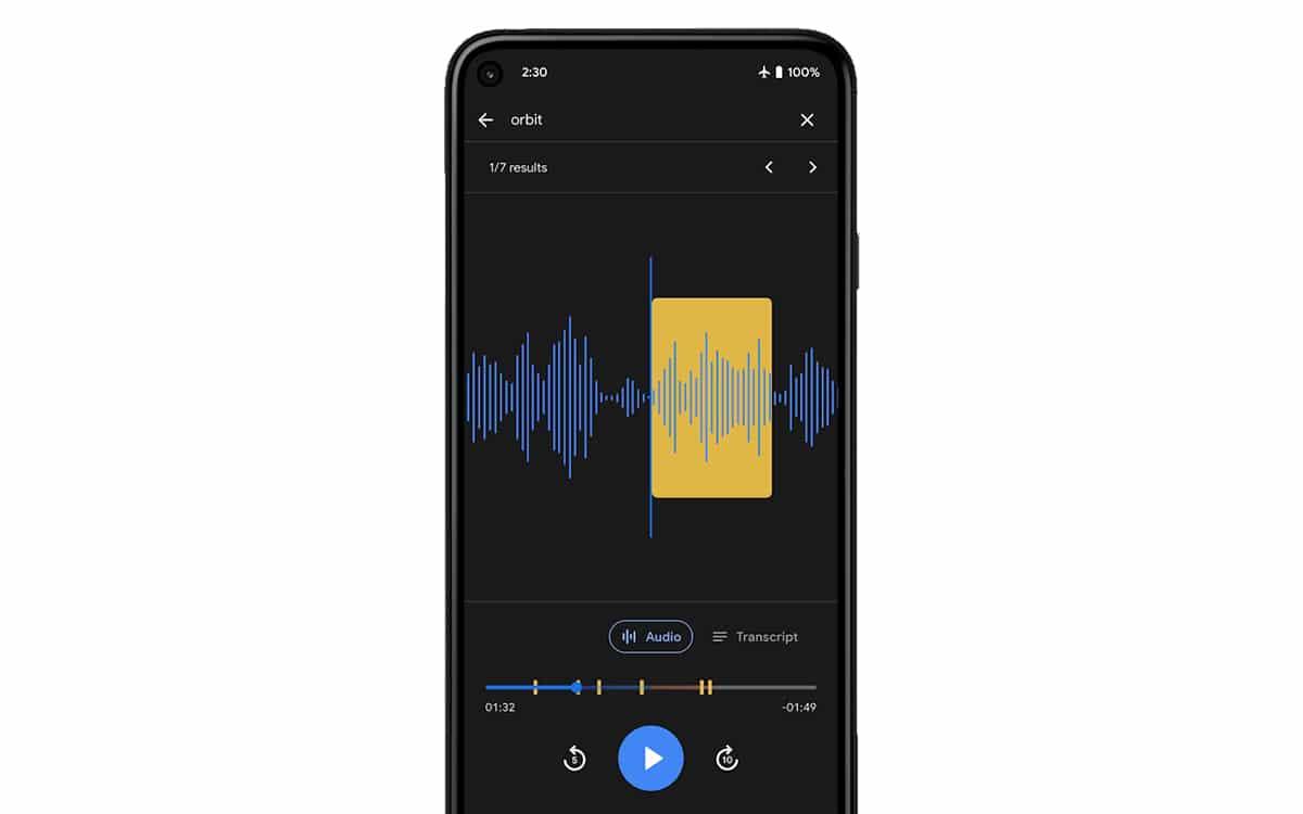Google Recorder audio