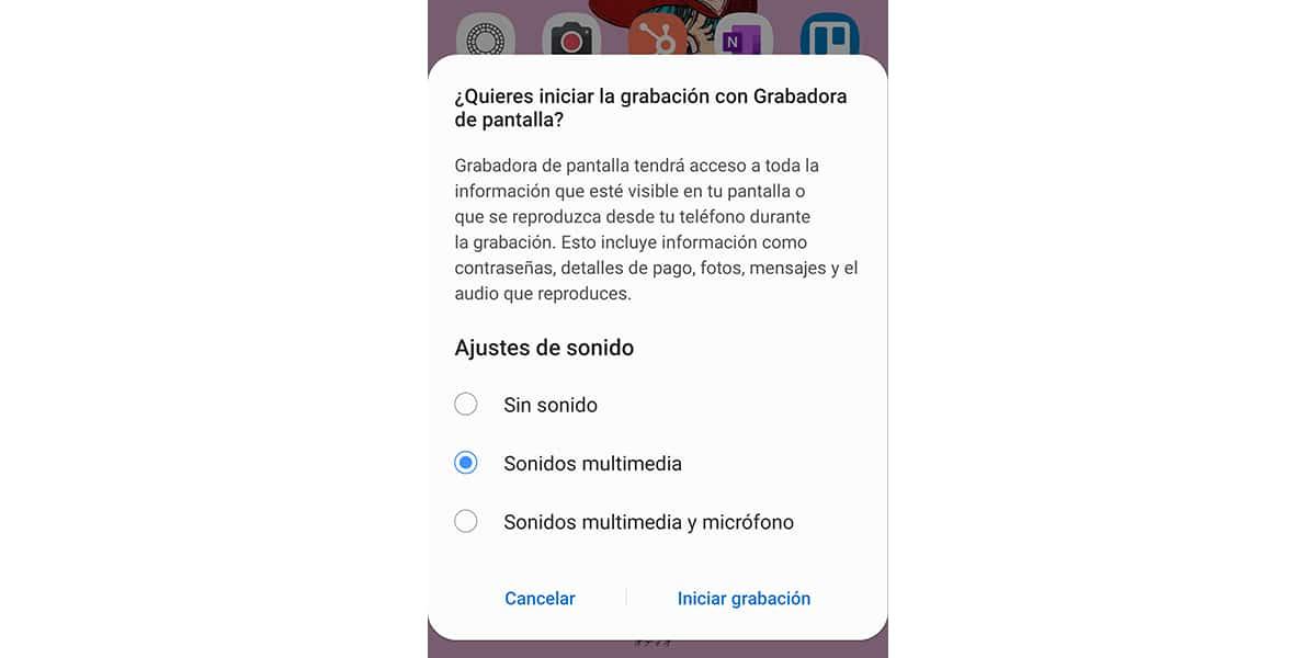 Grabar monitor en Samsung