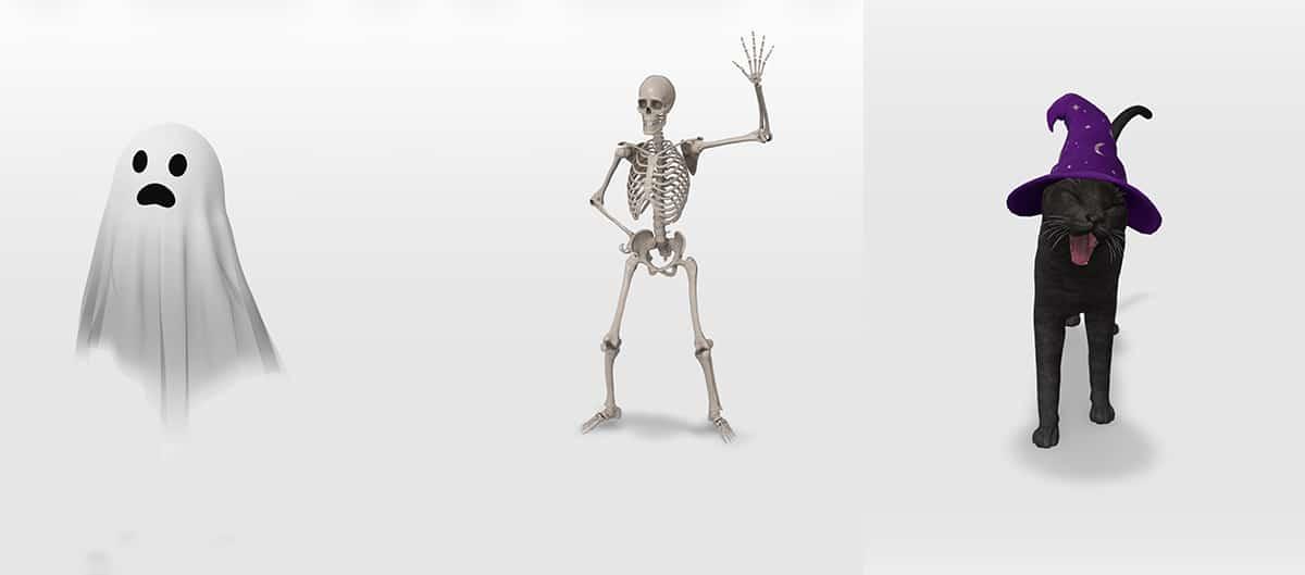 Objetos 3D Google Halloween