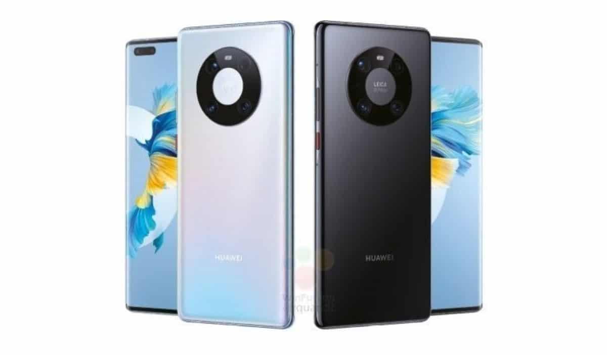 Uno de los tantos renders filtrados sobre los Mate 40 de Huawei