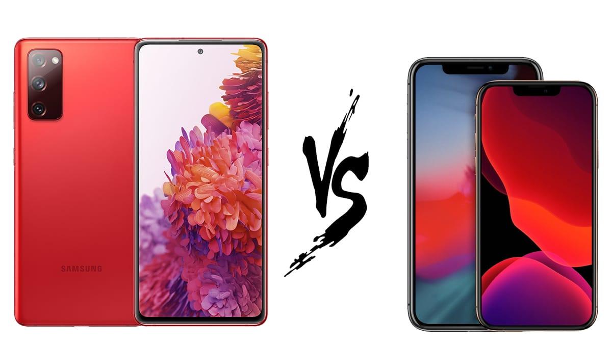 Galaxy S20 FE vs iPhone 12