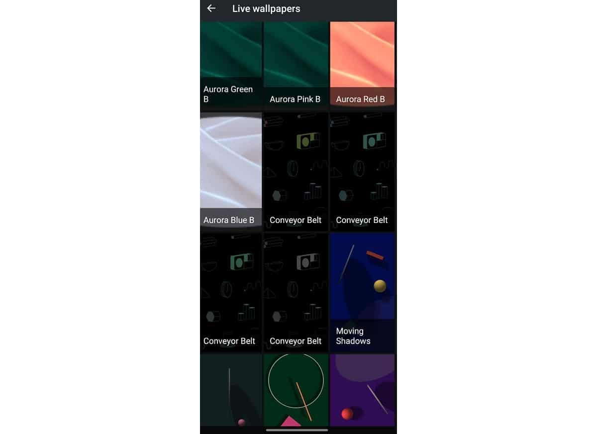 Convellor belt del Pixel 5
