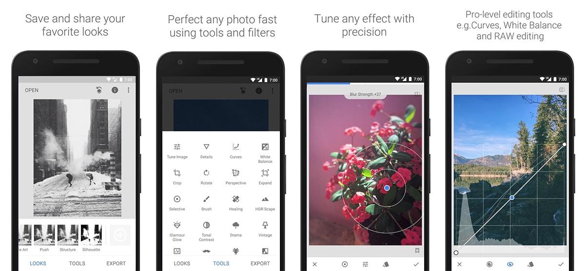 Snapseed - Editor fotos móvil