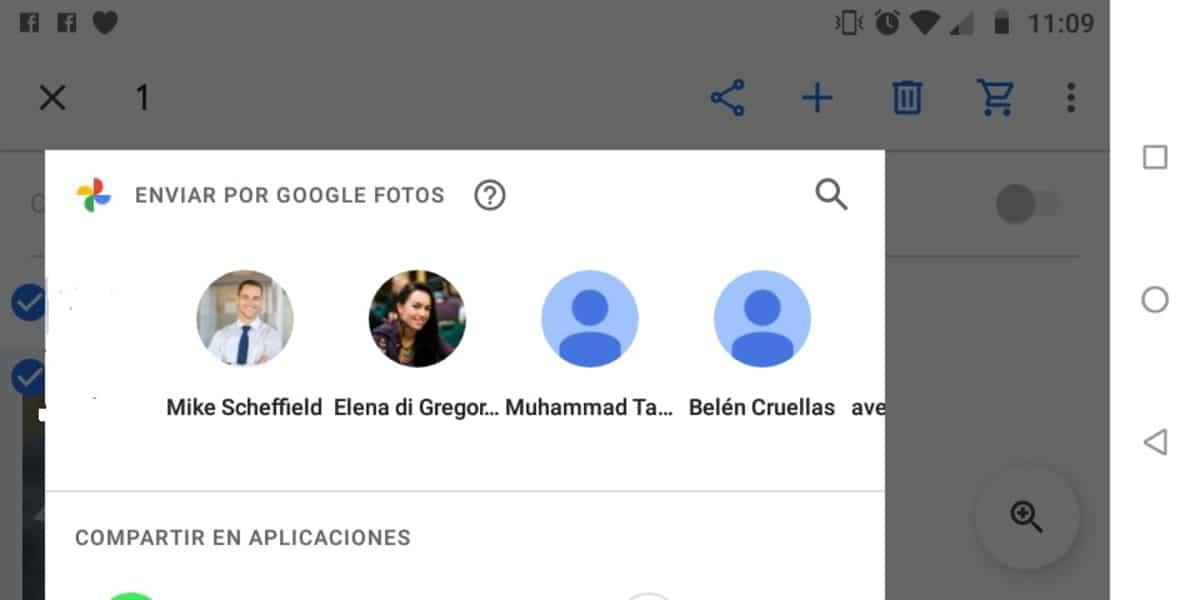 Google Fotos compartir