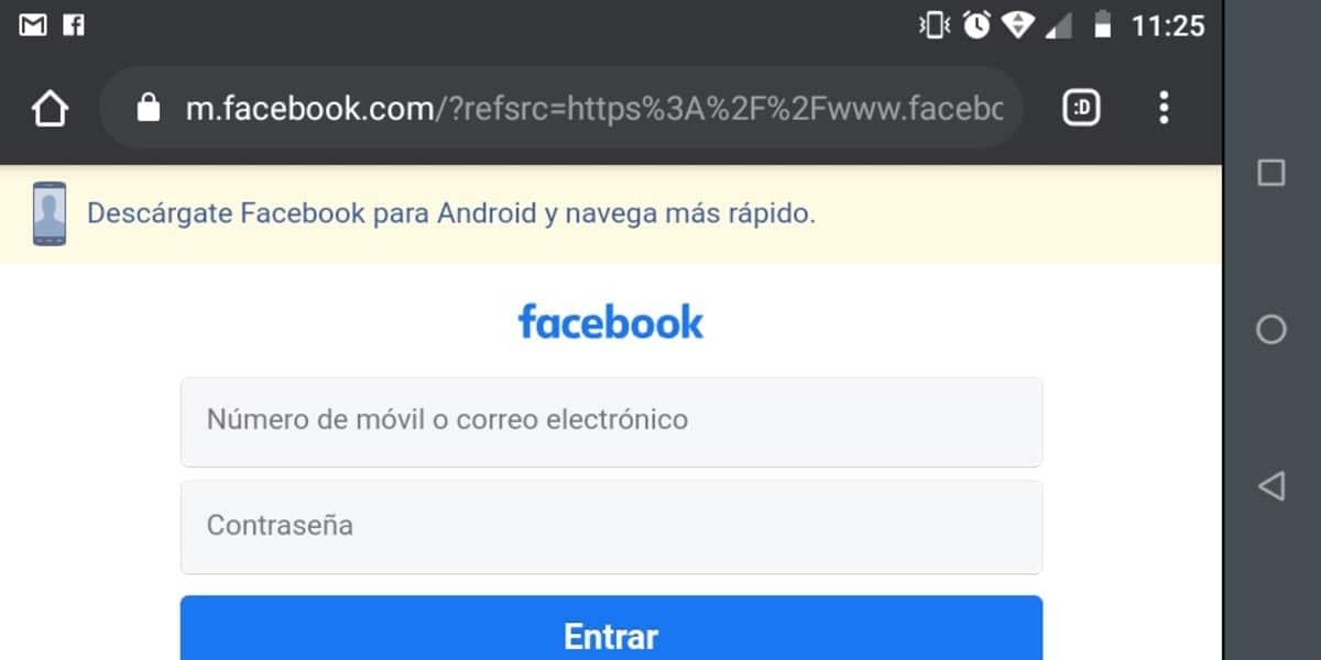 Facebook versión web
