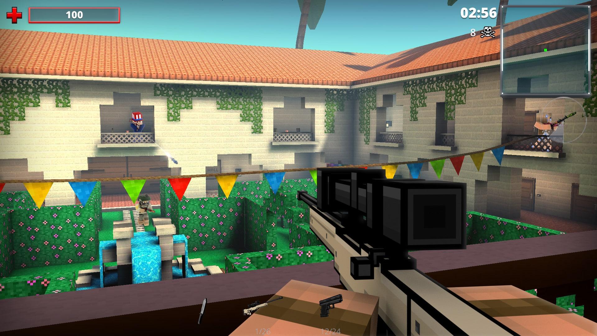 Pixel Strike 3D jugando