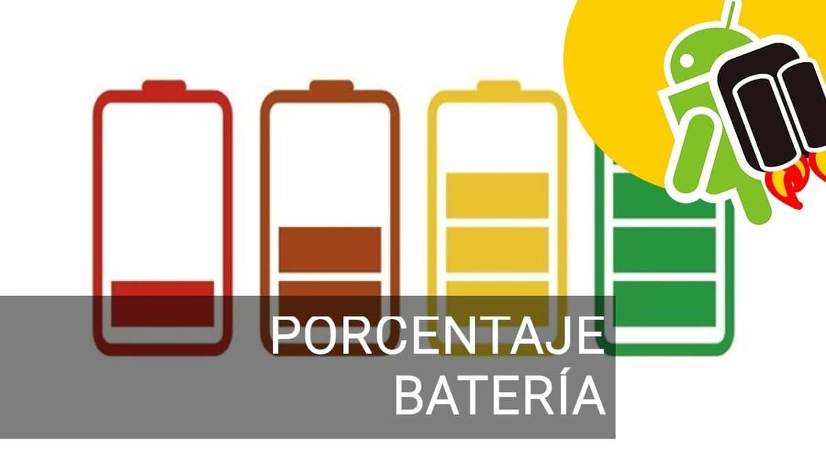 Porcentaje bateria