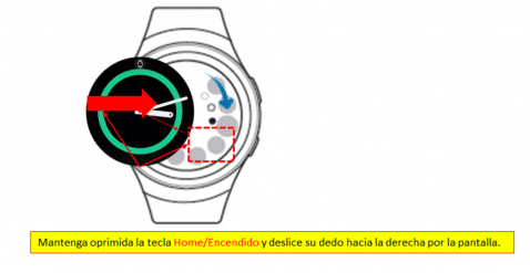 Galaxy Watch captura pantalla
