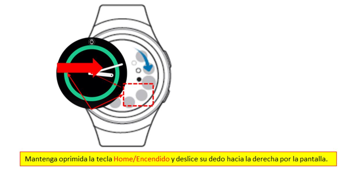 Galaxy Watch captura pantalla