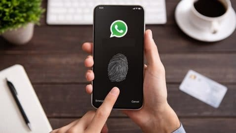 WhatsApp huella dactilar