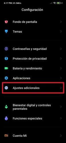 Cómo eliminar la barra inferior de navegación en un Xiaomi o Redmi
