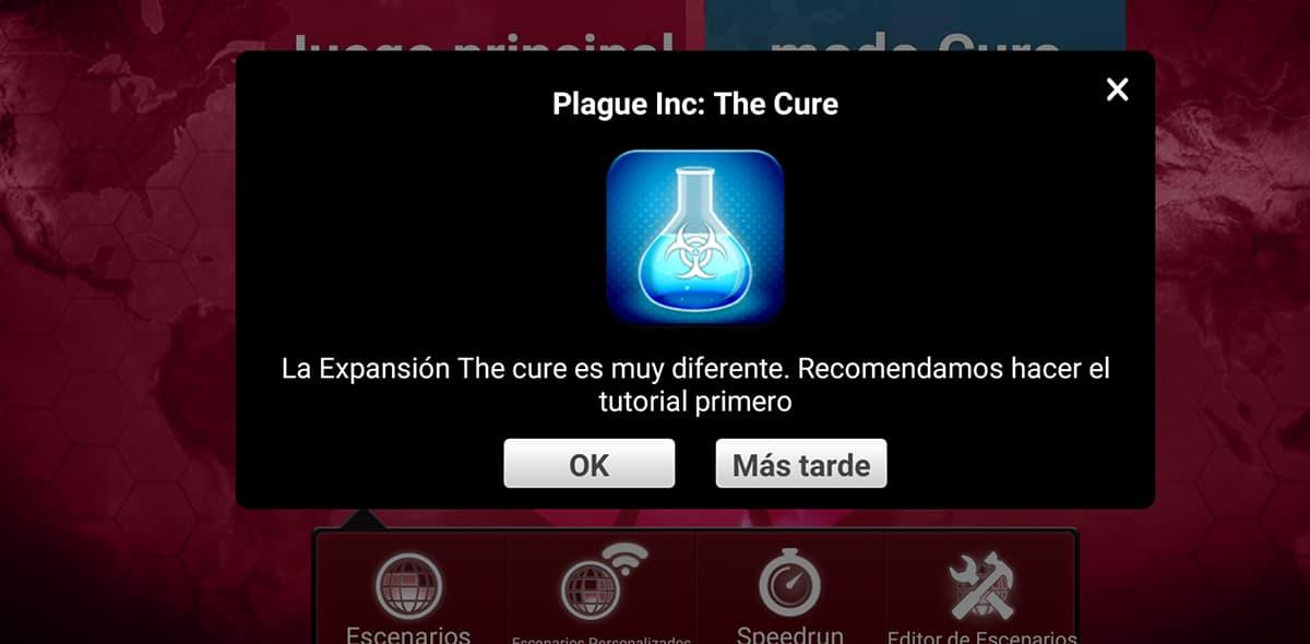 Cómo jugar gratis expansión la Cura de The Plague Inc