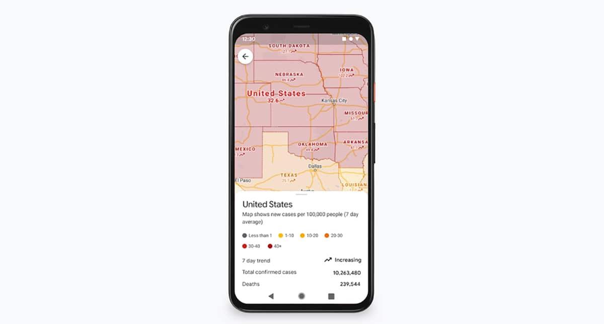 Casos COVID-19 en <stro />Google</strong>® Maps» width=»1200″ height=»644″ srcset=»https://www.androidsis.com/wp-content/uploads/2020/11/google-maps-casos-covid-region.jpg 1200w, <a target=