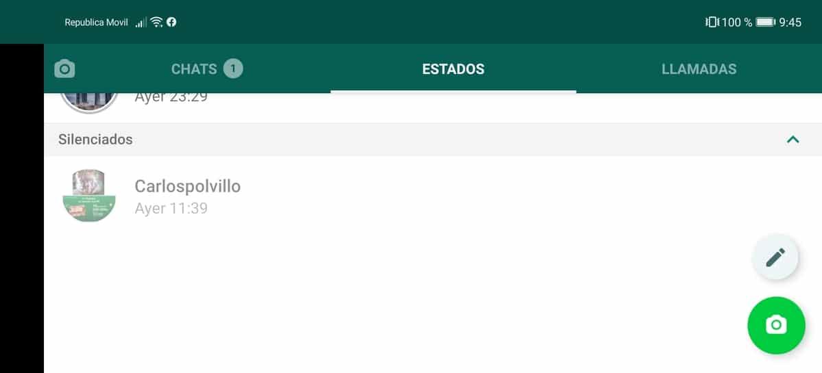 Quitar silencio WhatsApp