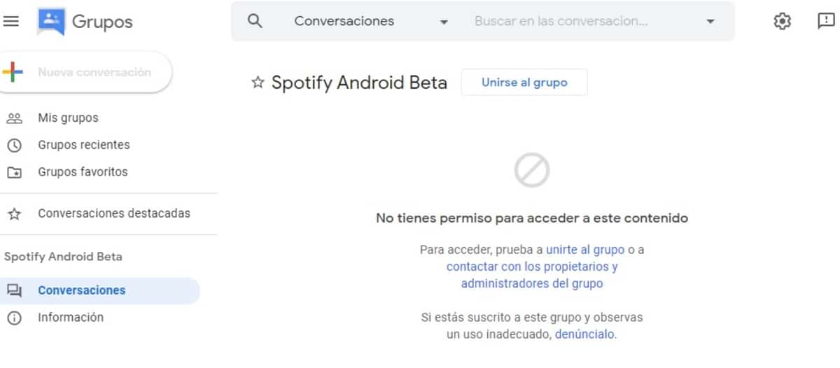 Spotify grupos