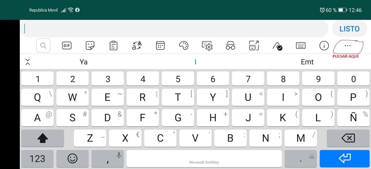 WhatsApp P40 opciones