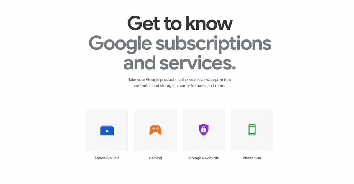 suscripciones google Store