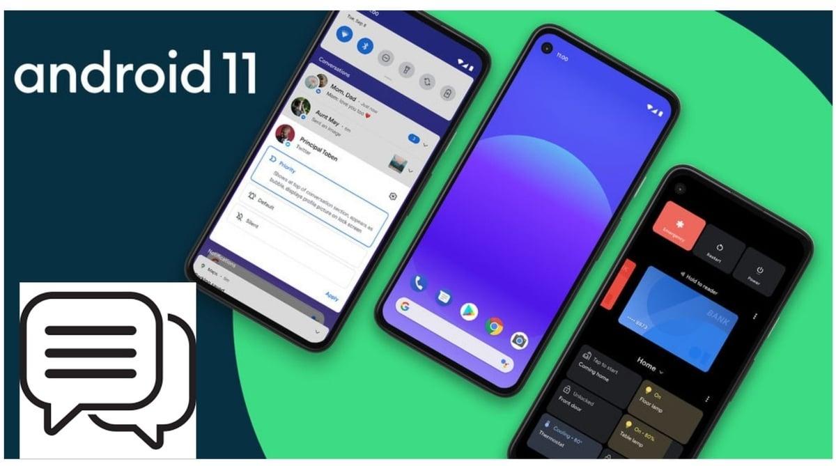Burbujas chat Android 11