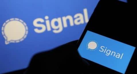 Signal modo oscuro